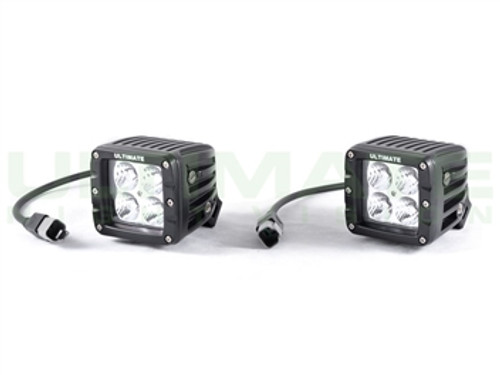 "ULTIMATE 2"" 940nm Infrared LED Light Cubes - Dual Row Flood Pair"
