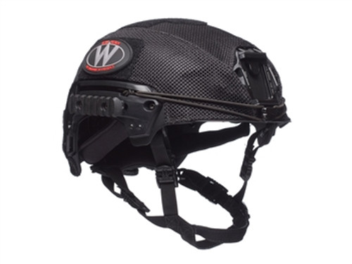 Team Wendy EXFIL LTP/Carbon Mesh Helmet Cover, Black