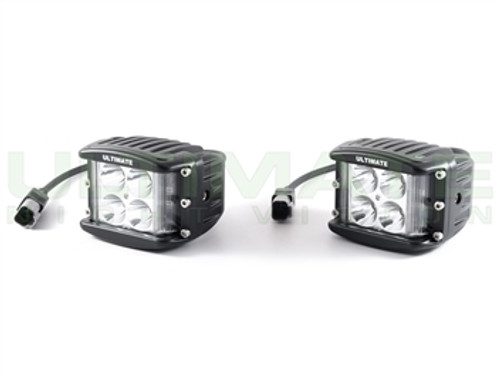 "ULTIMATE 2"" LT-IR 940nm Infrared LED Light Cubes - Dual Row Lateral Throw Pair"