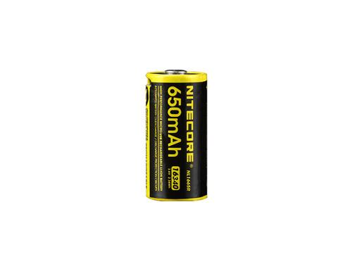 Nitecore NL1665R 650 mAh Mirco USB Rechargeable 16340/RCR123A Battery