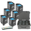 Image of Chauvet Freedom Par Tri-6 Wireless DMX RGB LED Wash Light, 6-Pack & SKB Case