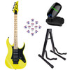 Image of Ibanez RG550 Genesis Collection Electric Guitar Yellow w/ Stand Tuner & Picks
