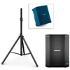 Image of Bose S1 Pro PA System w/ Speaker Stand & Play-Through Cover - Baltic Blue