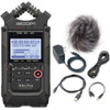 Zoom H4n Pro All Black Handy Digital Recorder with H4nPro Accessory Pack