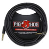 Pig Hog PCH20BKR Black Woven Instrument Cable, Right Angle - 20ft (3-Pack)