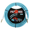 """Pig Hog PCH20DB 1/4"""" to 1/4"""" Daphne Blue Instrument Cable - 20ft (2-Pack)"""