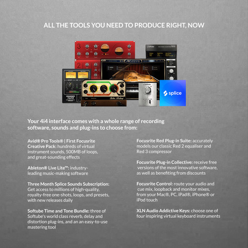 Focusrite Scarlett 4i4 3rd Gen USB Audio Interface