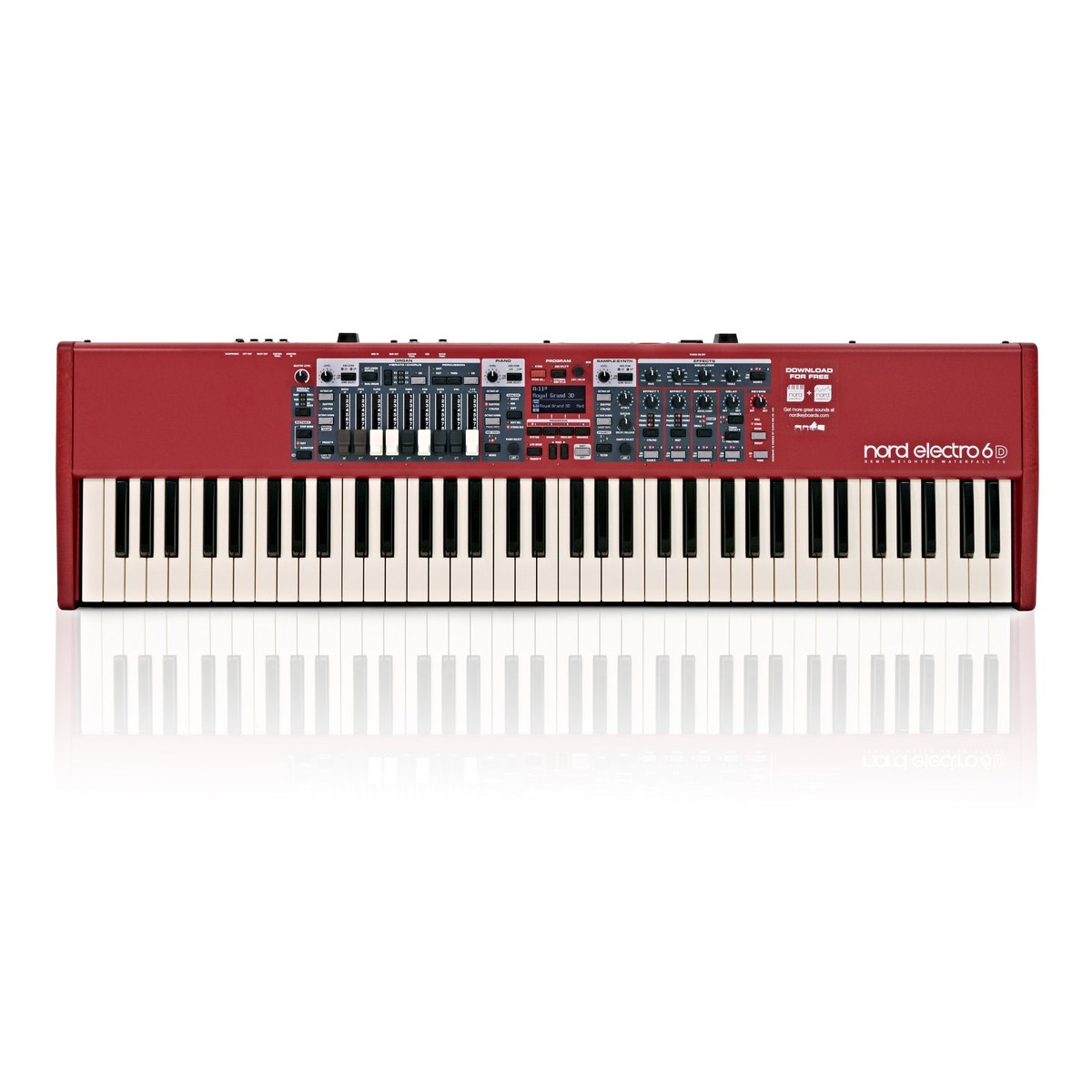 Nord Electro 6D 73 key semi-weighted action with nine physical drawbars