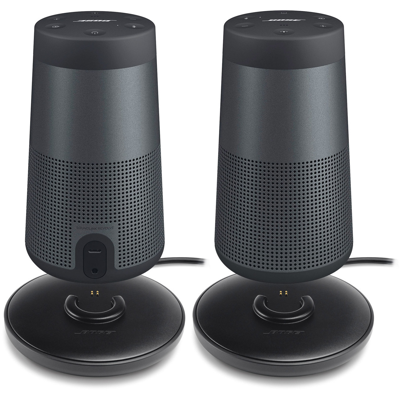 Bose SoundLink Revolve Bluetooth Speaker, Pair and Cradle - Black