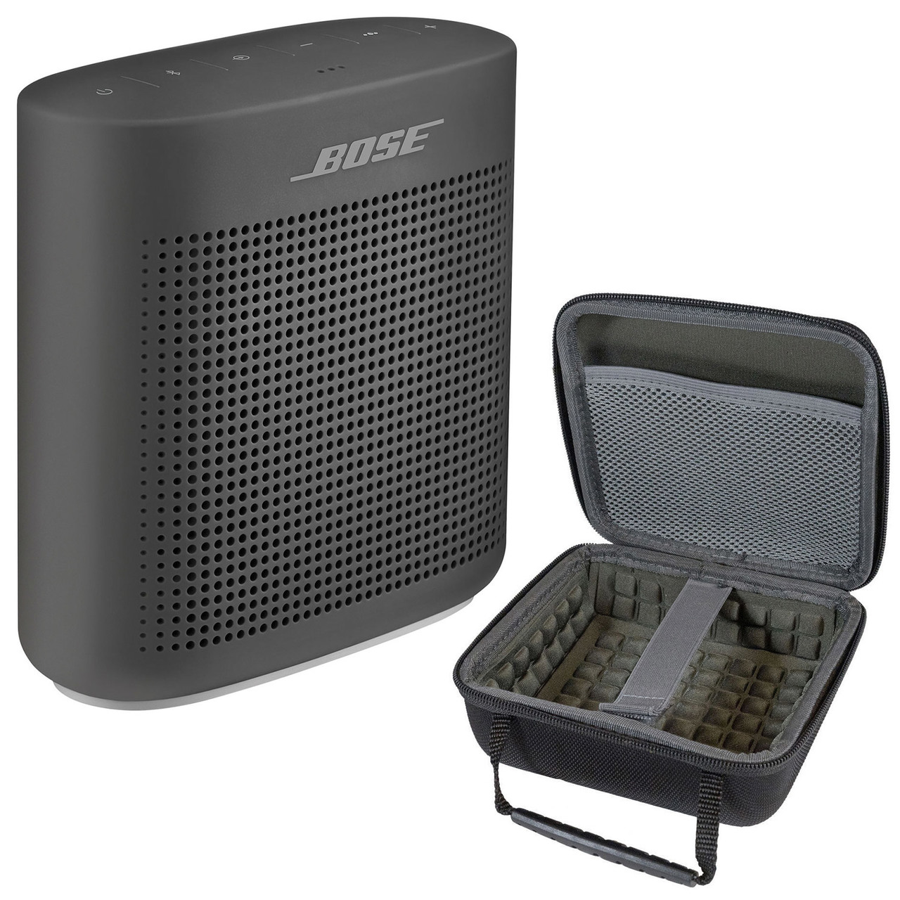 Bose SoundLink Color Bluetooth Speaker II Soft and Hardshell Case - Black