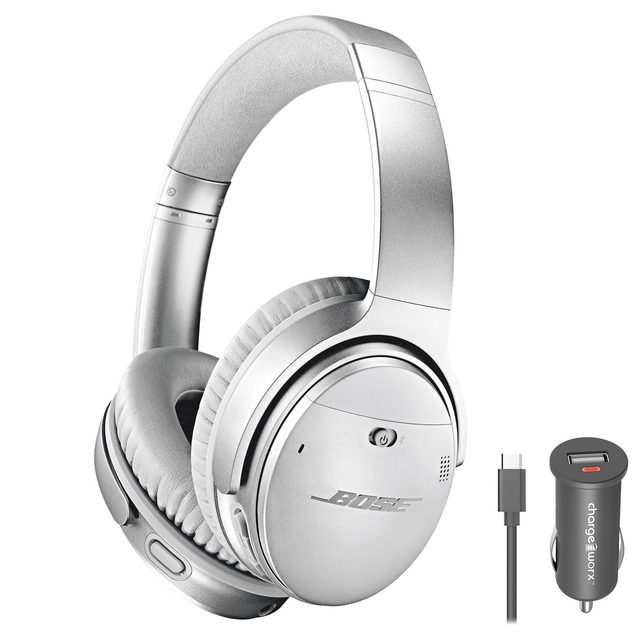 1286d308a80 Bose QuietComfort 35 wireless headphones II with Car Charger - Silver ...