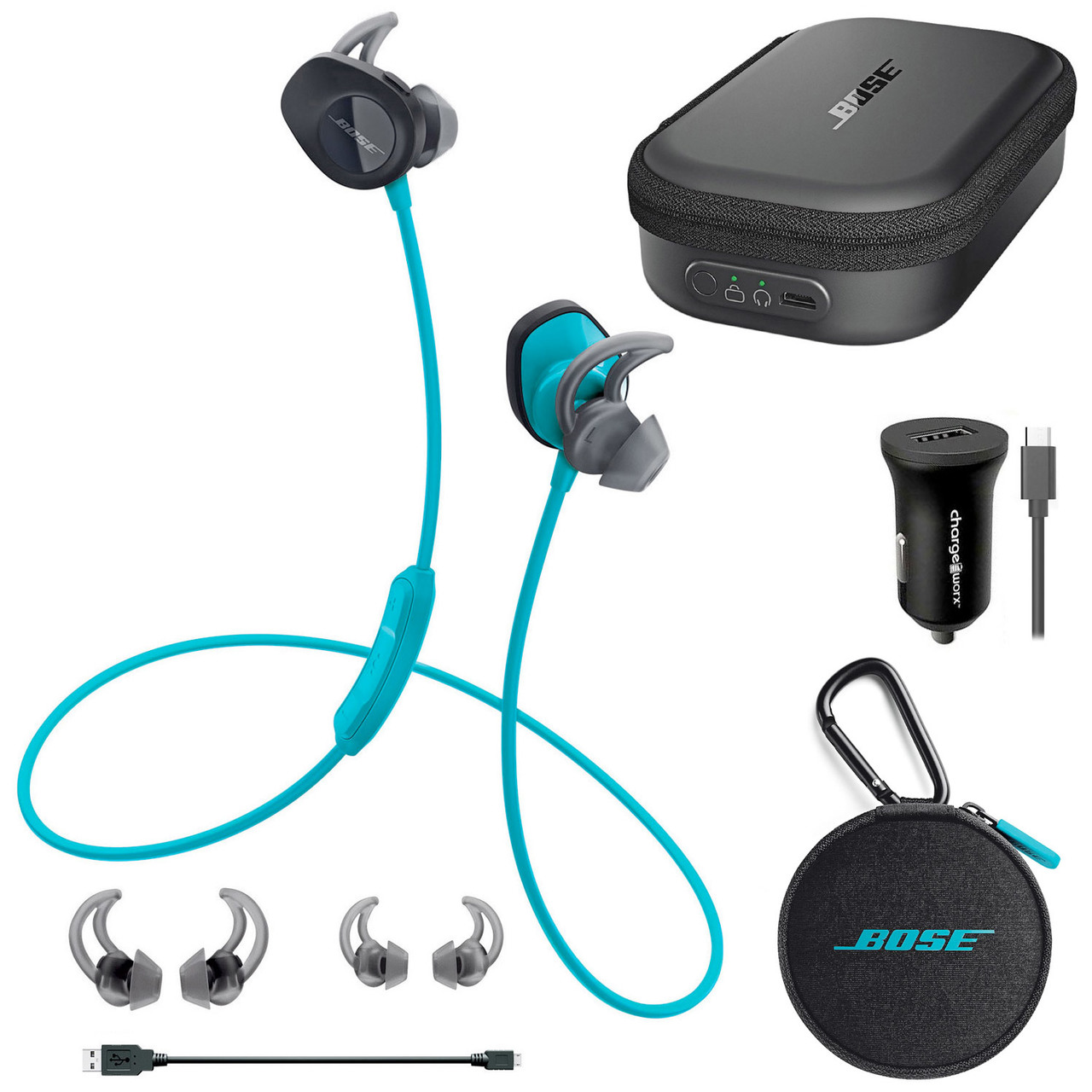 47025a5e9d9 Bose | SoundSport Wireless In-Ear Headphone Bundle w/ Charging Case ...