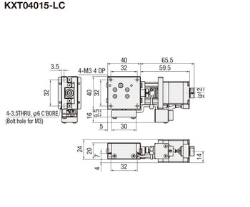 Technical drawing KXT04015-LC