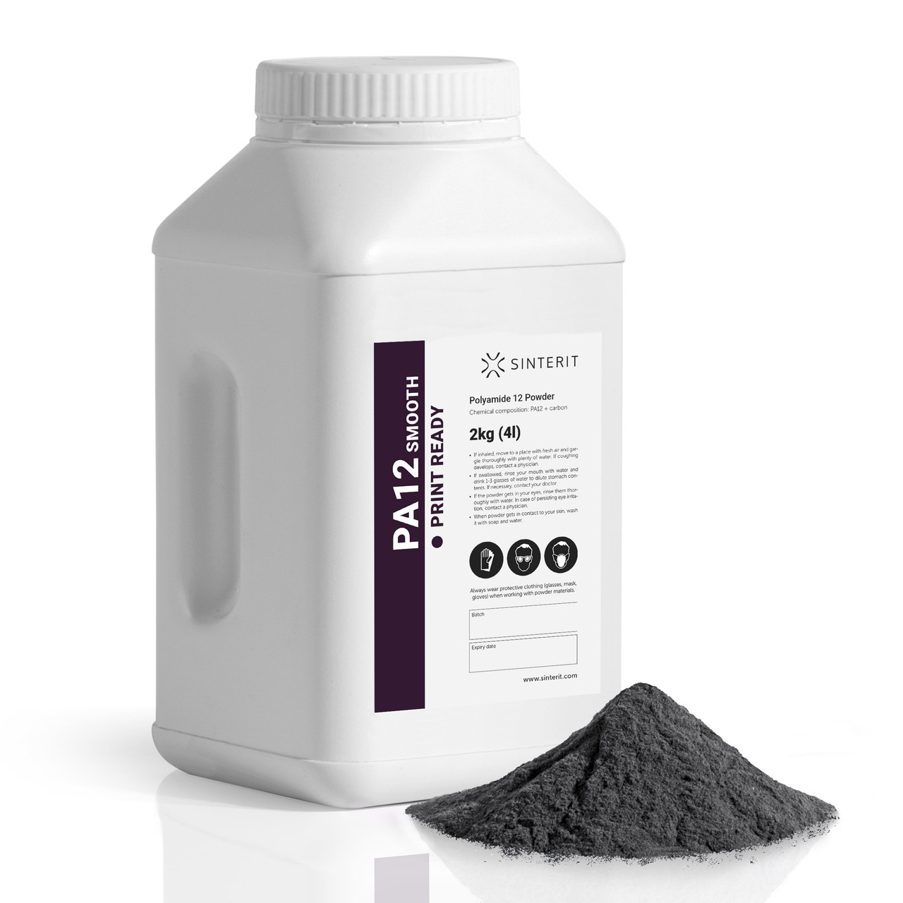PA12 Print Ready Powder - 2kg (4l) container