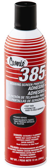 Camie 385 Webbing Screen Printers Adhesive, 12oz can.