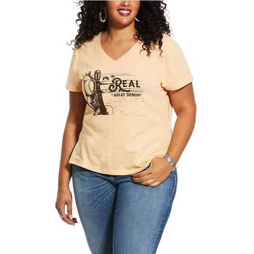Ariat Womens Country Scene  SS T-Shirt Apricot