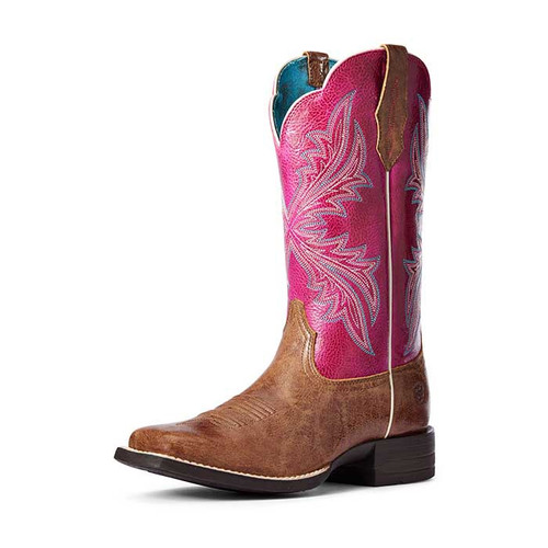 Ariat West Bound Ladies Boots Dark Tan/Cerise