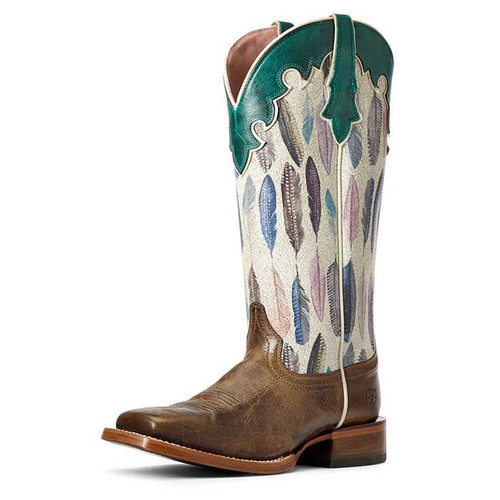 Ariat Fonda Ladies Boots Tuscan Taupe/Watercolour Feather