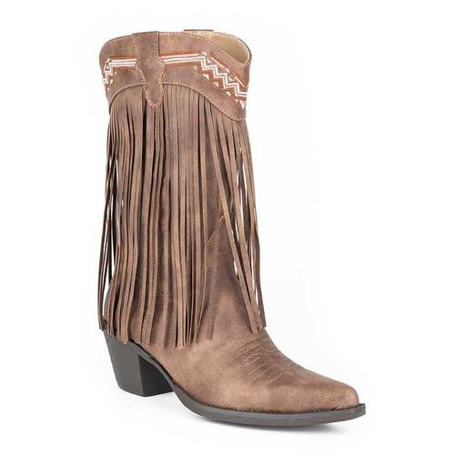 Roper Ladies Fringes Boot Brown