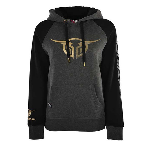 WMNS AUTHENTIC PULLOVER HOODIE IN CHARCOAL/BLACK