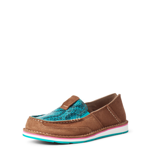 Ariat Ladies Cruisers New Earth Suede/Turquoise Snake