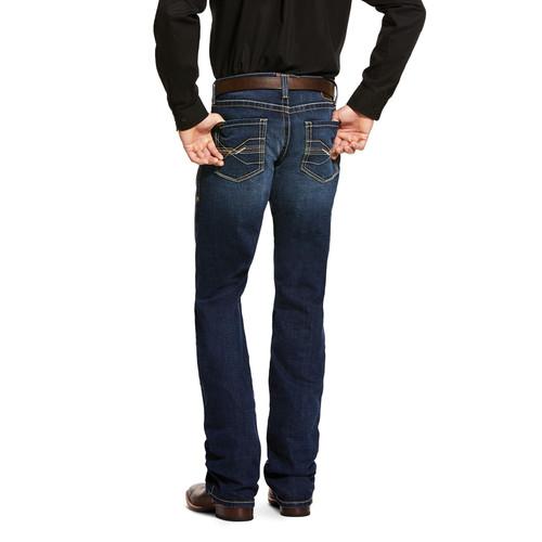 Ariat M5 Wiley Straight Leg Mens Slim Fit Jeans Denali