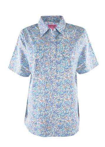 Hard Slog Ladies S/Sleeve Shirt White