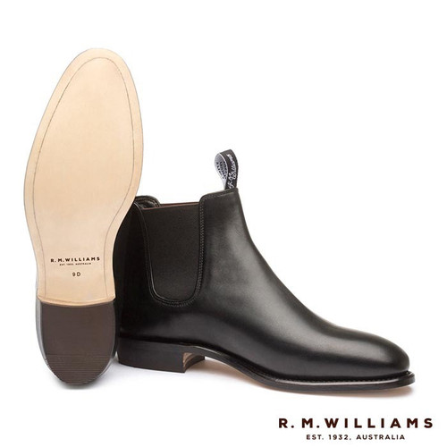 Adelaide Boot Black Leather sole