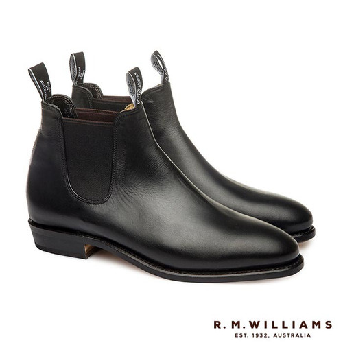 R.M.Williams Adelaide Boot Black Rubber Sole