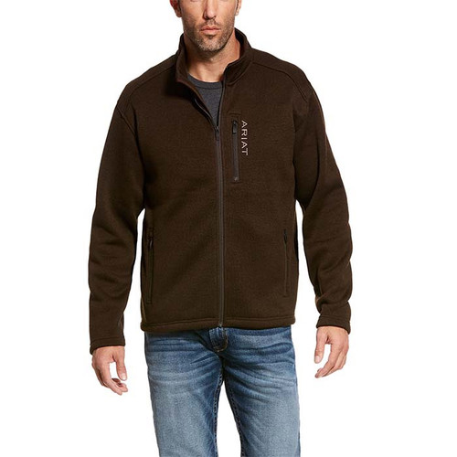 Ariat Caldwell Full Zip Sweater Dark Brew