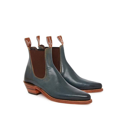 R.M.W. Millicent Boot in Dark Teal Burnished