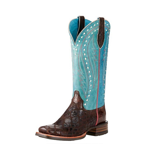 Ariat Callahan Womens Boots Chocolate/Washed Teal