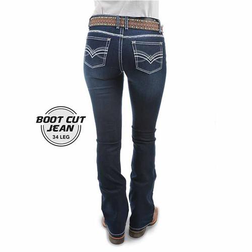 Pure Western Ladies Hannah Boot Cut Jean Midnight