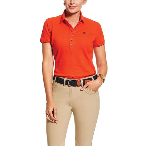 Ariat Ladies Prix 2.0 Polo Red Clay