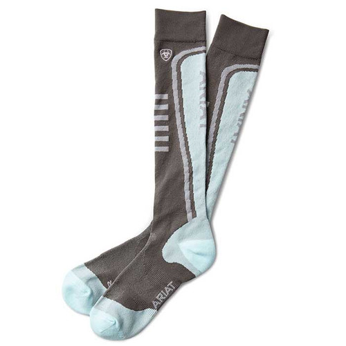 Ariat Slimline Performance Socks Plum Grey