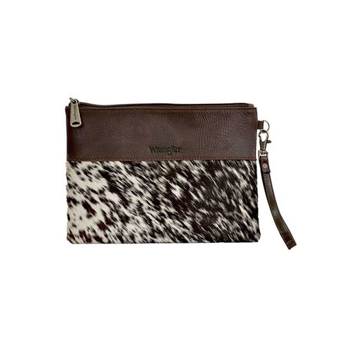 WMNS COWHIDE CLUTCH IN PEWTER