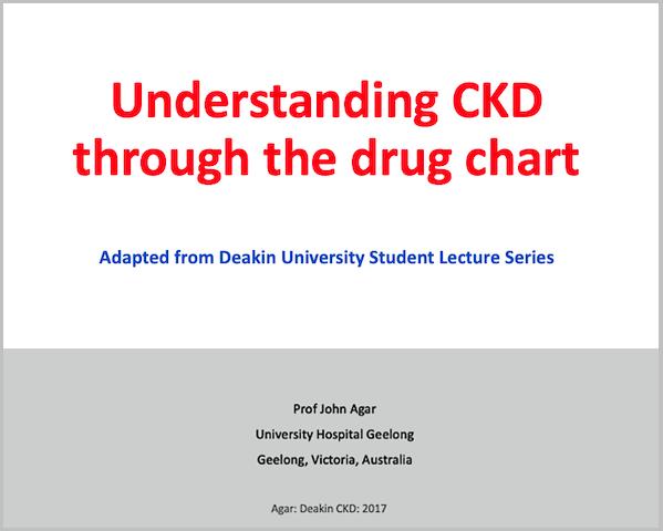 Understanding CKD Through the Drug Chart