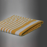 CABANA TOWELS 30X70 15 LBS. YELLOW TROPICAL STRIPES (2 DOZ/24 PIECES)
