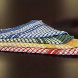 TEA TOWELS MONO CHECK 22X32 ASSORTED 4 COLORS (25doz/bale)