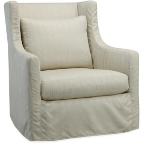 Lotus Outdoor Slipcovered Swivel Chair