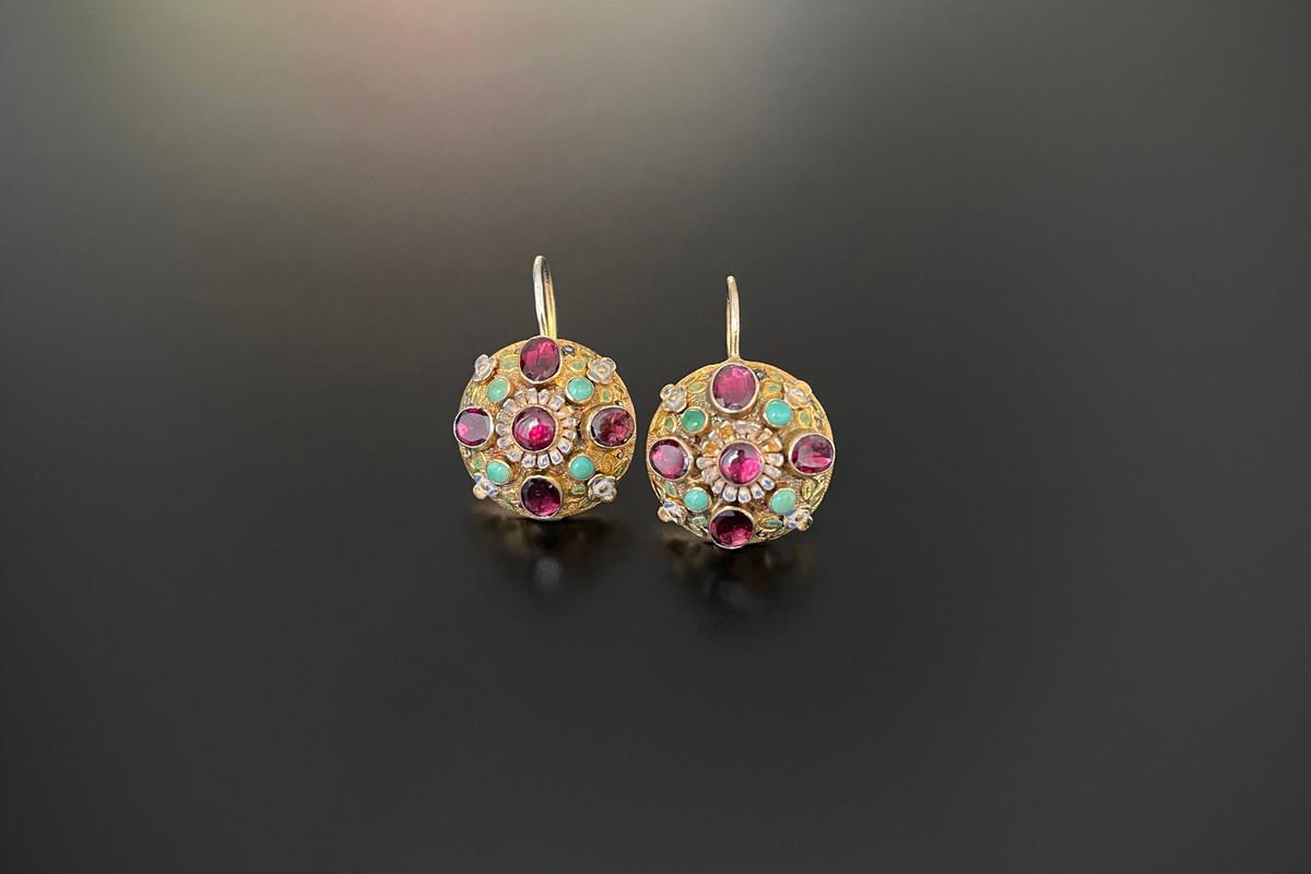 A Wonderful Pair of Austro Hungarian Earrings