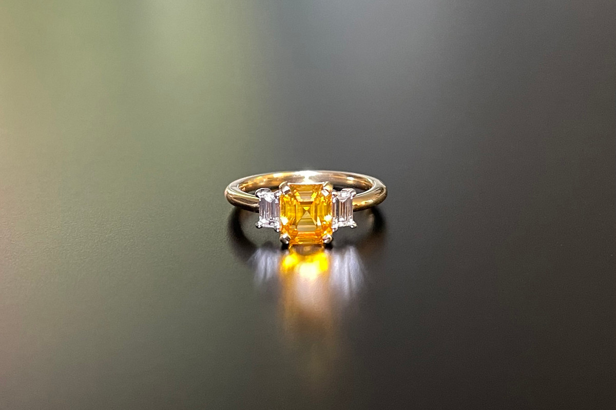 A Gorgeous Yellow Sapphire and Diamond Ring