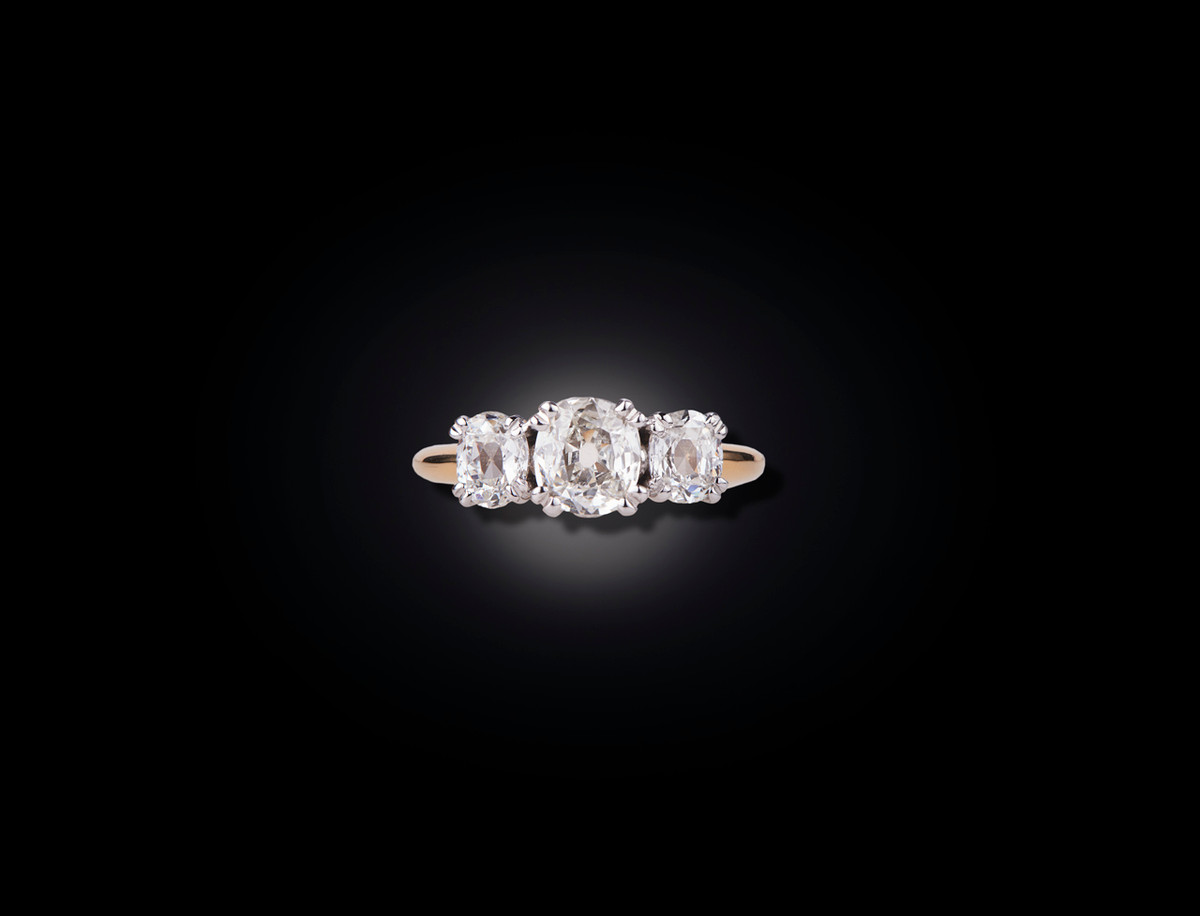Classic Three Stone Diamond Ring
