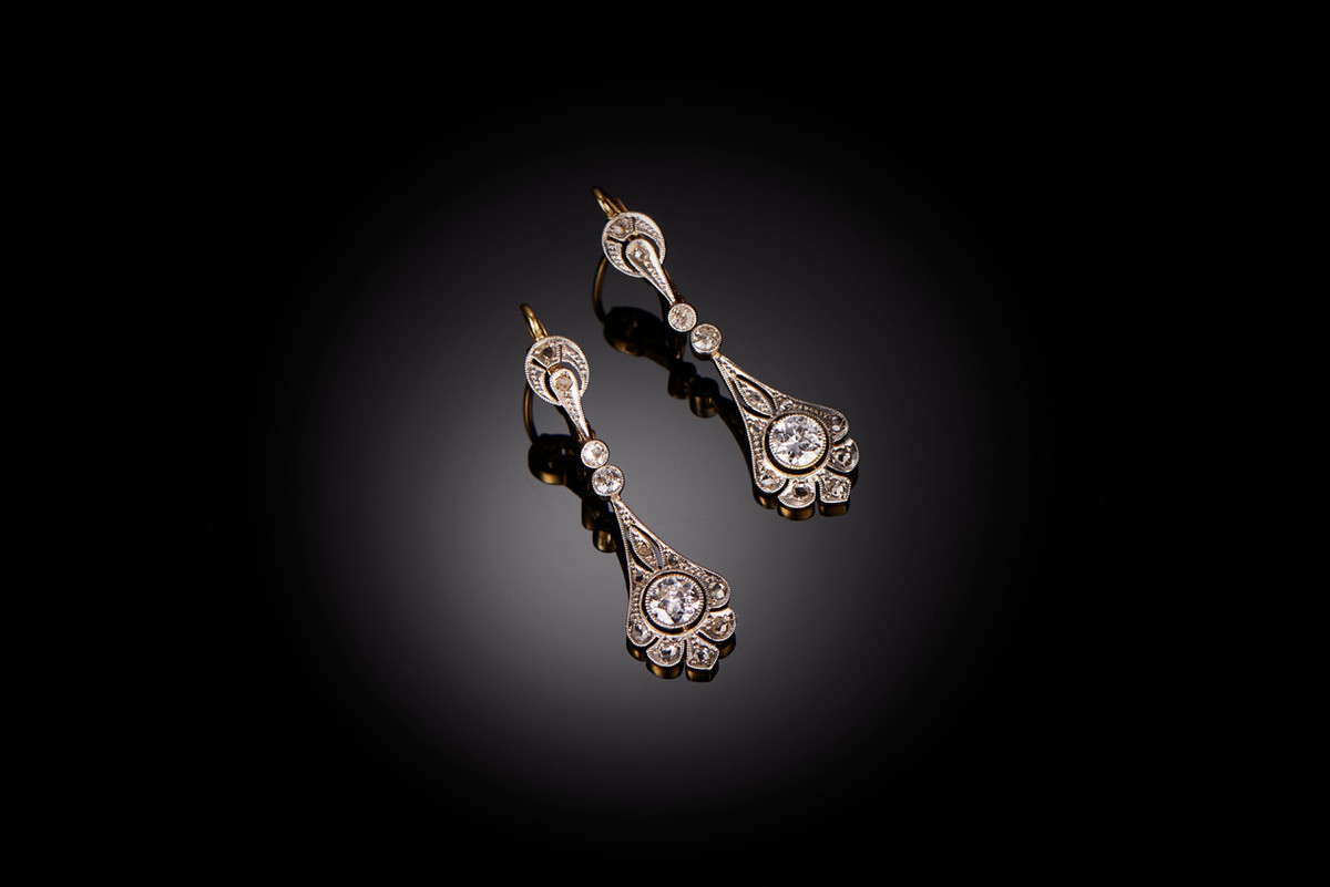 A Lovely Pair of Diamond Drop Earrings