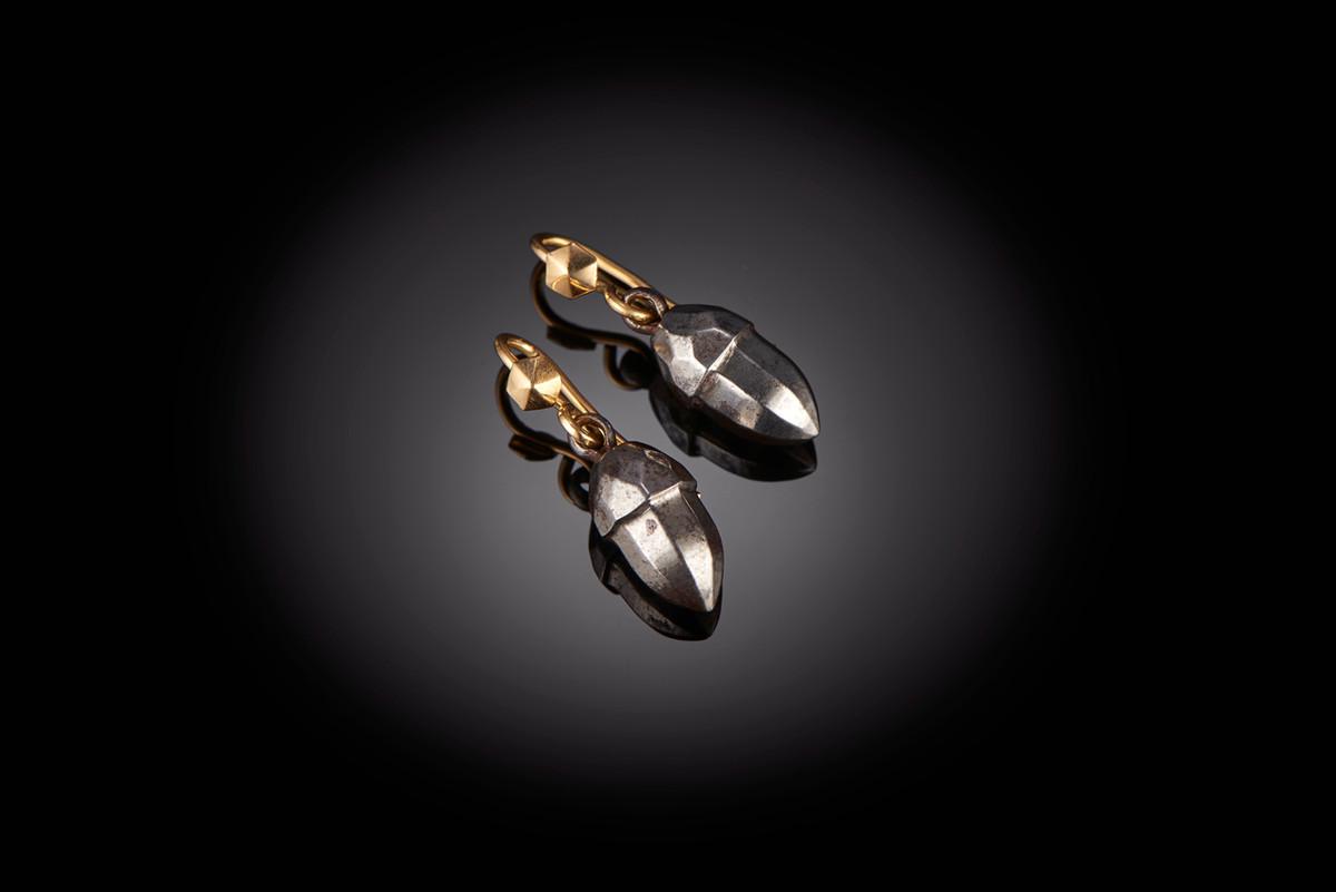 Steel Acorn Earrings