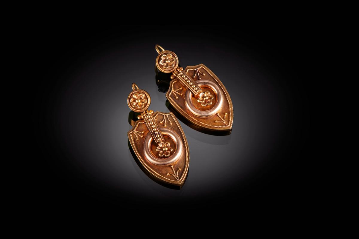 A Striking Pair of Antique Drop Earrings