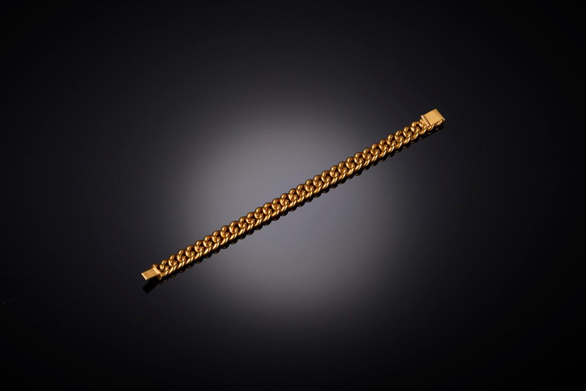 A Classic Gold Curb Link Bracelet