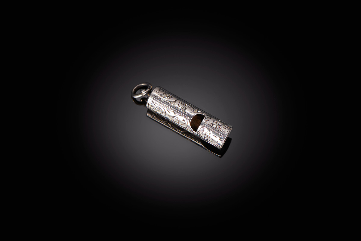 Antique Sterling Silver Whistle