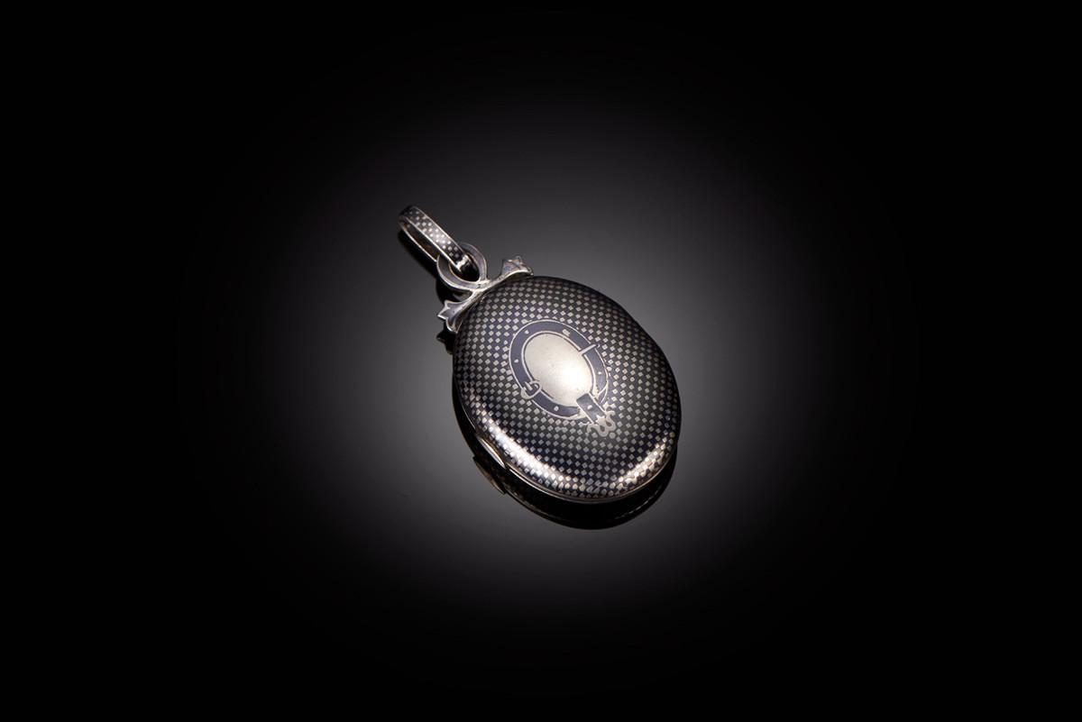 Victorian Silver and Niello Locket