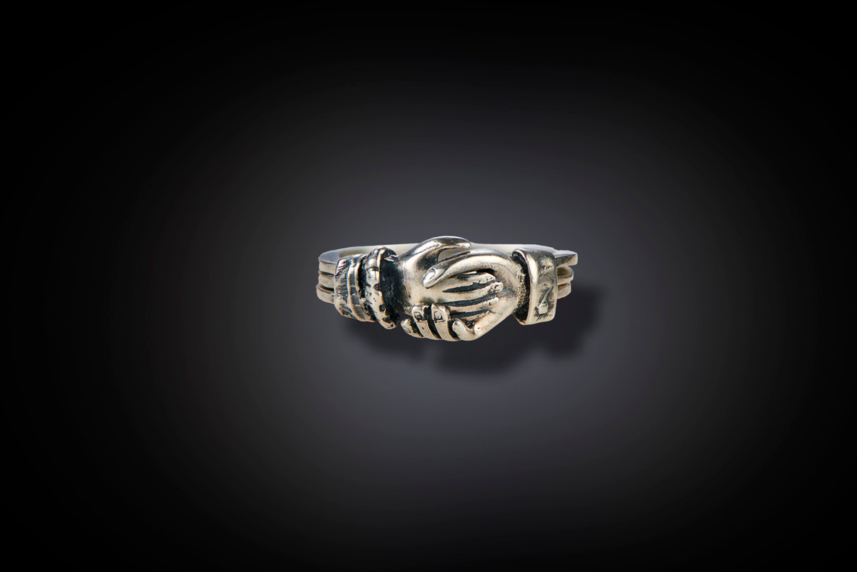Antique Silver Claddah Ring